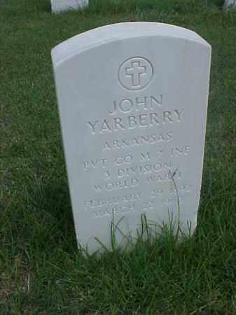 YARBERRY (VETERAN WWI), JOHN - Pulaski County, Arkansas | JOHN YARBERRY (VETERAN WWI) - Arkansas Gravestone Photos