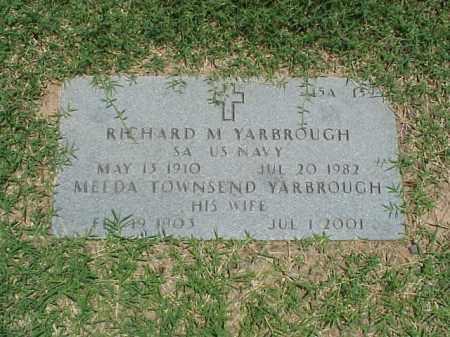 YARBROUGH (VETERAN 2 WARS), RICHARD M - Pulaski County, Arkansas | RICHARD M YARBROUGH (VETERAN 2 WARS) - Arkansas Gravestone Photos
