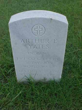 YATES (VETERAN WWI), ARTHUR E - Pulaski County, Arkansas   ARTHUR E YATES (VETERAN WWI) - Arkansas Gravestone Photos