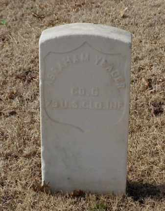 YEAGER (VETERAN UNION), ABRAHAM - Pulaski County, Arkansas | ABRAHAM YEAGER (VETERAN UNION) - Arkansas Gravestone Photos