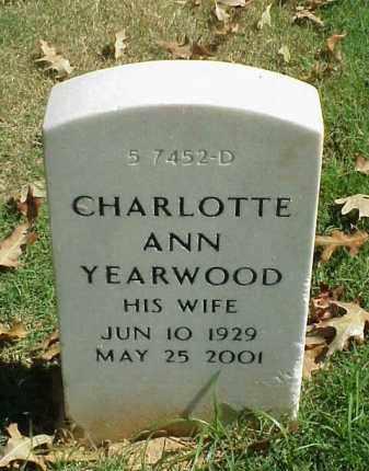 YEARWOOD, CHARLOTTE ANN - Pulaski County, Arkansas | CHARLOTTE ANN YEARWOOD - Arkansas Gravestone Photos