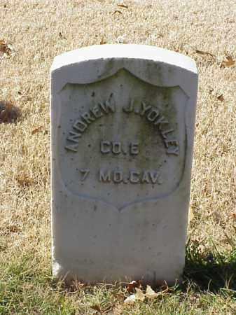 YOKLEY (VETERAN UNION), ANDREW J - Pulaski County, Arkansas | ANDREW J YOKLEY (VETERAN UNION) - Arkansas Gravestone Photos