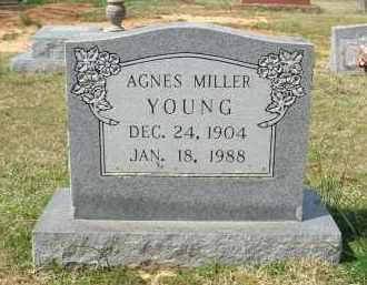 MILLER YOUNG, AGNES - Pulaski County, Arkansas | AGNES MILLER YOUNG - Arkansas Gravestone Photos