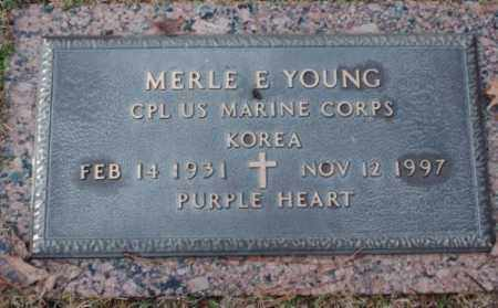 YOUNG (VETERAN KOR), MERLE E - Pulaski County, Arkansas | MERLE E YOUNG (VETERAN KOR) - Arkansas Gravestone Photos