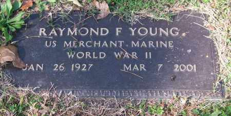 YOUNG (VETERAN WWII), RAYMOND F. - Pulaski County, Arkansas   RAYMOND F. YOUNG (VETERAN WWII) - Arkansas Gravestone Photos