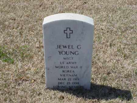 YOUNG (VETERAN 3 WARS), JEWEL G - Pulaski County, Arkansas | JEWEL G YOUNG (VETERAN 3 WARS) - Arkansas Gravestone Photos