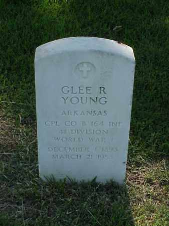 YOUNG (VETERAN WWI), GLEE R - Pulaski County, Arkansas   GLEE R YOUNG (VETERAN WWI) - Arkansas Gravestone Photos