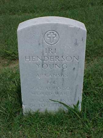 YOUNG (VETERAN WWI), IRL HENDERSON - Pulaski County, Arkansas | IRL HENDERSON YOUNG (VETERAN WWI) - Arkansas Gravestone Photos