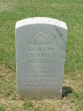 YOUNG (VETERAN WWI), THOMAS TAYLOR - Pulaski County, Arkansas | THOMAS TAYLOR YOUNG (VETERAN WWI) - Arkansas Gravestone Photos