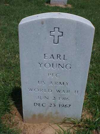 YOUNG (VETERAN WWII), EARL - Pulaski County, Arkansas   EARL YOUNG (VETERAN WWII) - Arkansas Gravestone Photos