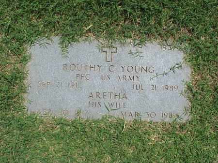 YOUNG (VETERAN WWII), ROUTHY C - Pulaski County, Arkansas | ROUTHY C YOUNG (VETERAN WWII) - Arkansas Gravestone Photos