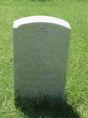 YOUNG (VETERAN WWII), WILLIE - Pulaski County, Arkansas | WILLIE YOUNG (VETERAN WWII) - Arkansas Gravestone Photos