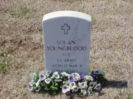 YOUNGBLOOD (VETERAN WWII), SOLAN - Pulaski County, Arkansas   SOLAN YOUNGBLOOD (VETERAN WWII) - Arkansas Gravestone Photos