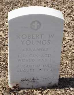 YOUNGS  (VETERAN WWI), ROBERT W - Pulaski County, Arkansas | ROBERT W YOUNGS  (VETERAN WWI) - Arkansas Gravestone Photos