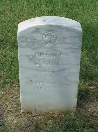 ZAJAC (VETERAN), FRED F - Pulaski County, Arkansas | FRED F ZAJAC (VETERAN) - Arkansas Gravestone Photos