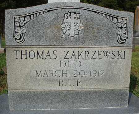 ZAKRZEWSKI, THOMAS - Pulaski County, Arkansas | THOMAS ZAKRZEWSKI - Arkansas Gravestone Photos