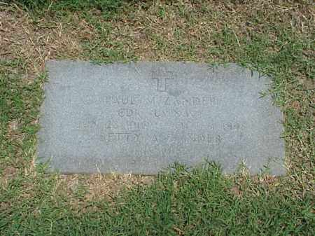 ZANDER (VETERAN WWII), PAUL MARTIN - Pulaski County, Arkansas | PAUL MARTIN ZANDER (VETERAN WWII) - Arkansas Gravestone Photos