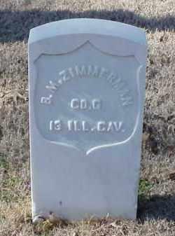 ZIMMERMAN (VETERAN UNION), BRADFORD M - Pulaski County, Arkansas | BRADFORD M ZIMMERMAN (VETERAN UNION) - Arkansas Gravestone Photos