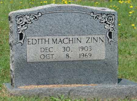 MACHIN ZINN, EDITH - Pulaski County, Arkansas   EDITH MACHIN ZINN - Arkansas Gravestone Photos
