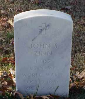 ZINN (VETERAN WWI), JOHN S - Pulaski County, Arkansas   JOHN S ZINN (VETERAN WWI) - Arkansas Gravestone Photos