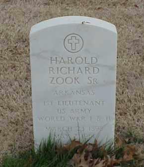 ZOOK, SR  (VETERAN 2 WARS), HAROLD RICHARD - Pulaski County, Arkansas   HAROLD RICHARD ZOOK, SR  (VETERAN 2 WARS) - Arkansas Gravestone Photos