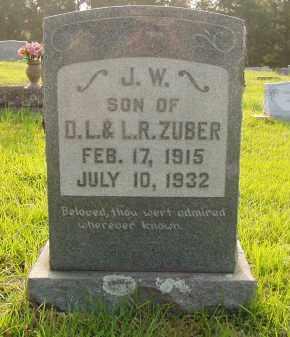 ZUBER, JOHN W - Pulaski County, Arkansas | JOHN W ZUBER - Arkansas Gravestone Photos