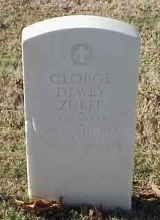 ZUBER (VETERAN), GEORGE DEWEY - Pulaski County, Arkansas   GEORGE DEWEY ZUBER (VETERAN) - Arkansas Gravestone Photos