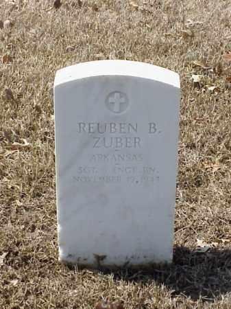 ZUBER (VETERAN), REUBEN B - Pulaski County, Arkansas | REUBEN B ZUBER (VETERAN) - Arkansas Gravestone Photos