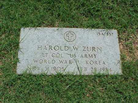 ZURN (VETERAN 2 WARS), HAROLD W - Pulaski County, Arkansas | HAROLD W ZURN (VETERAN 2 WARS) - Arkansas Gravestone Photos