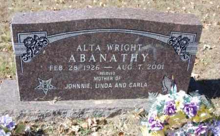 ABANATHY, ALTA WRIGHT - Randolph County, Arkansas | ALTA WRIGHT ABANATHY - Arkansas Gravestone Photos
