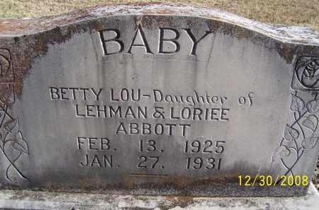 ABBOTT, BETTY LOU - Randolph County, Arkansas | BETTY LOU ABBOTT - Arkansas Gravestone Photos