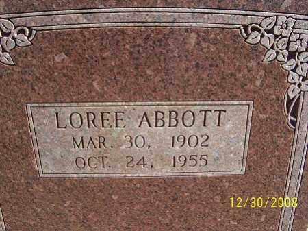 JOHNSON ABBOTT, LOREE - Randolph County, Arkansas | LOREE JOHNSON ABBOTT - Arkansas Gravestone Photos