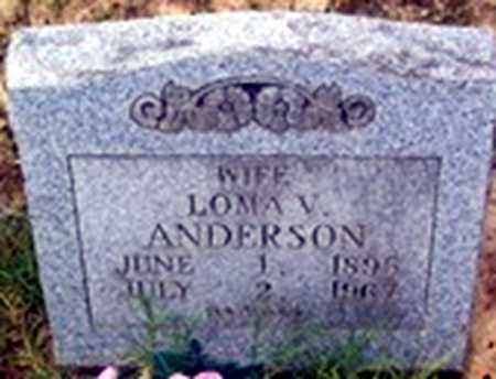HARTLEY ANDERSON, LOMA VIOLA - Randolph County, Arkansas | LOMA VIOLA HARTLEY ANDERSON - Arkansas Gravestone Photos