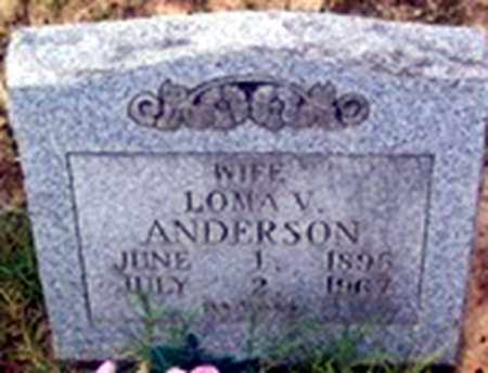 HARTLEY ANDERSON, LOMA VIOLA - Randolph County, Arkansas | LOMA VIOLA HARTLEY ANDERSON - Arkansas Gravestone Photos