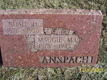 ANSPACH, NOAH H. - Randolph County, Arkansas   NOAH H. ANSPACH - Arkansas Gravestone Photos