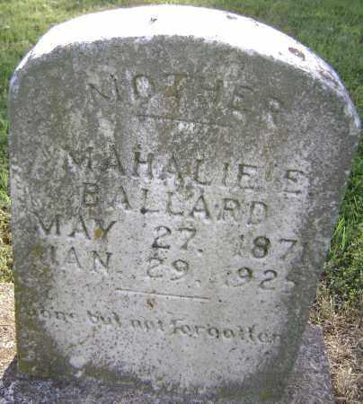 BALLARD, MAHALIE E. - Randolph County, Arkansas | MAHALIE E. BALLARD - Arkansas Gravestone Photos