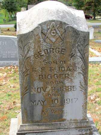 BIGGER, GEORGE W - Randolph County, Arkansas | GEORGE W BIGGER - Arkansas Gravestone Photos
