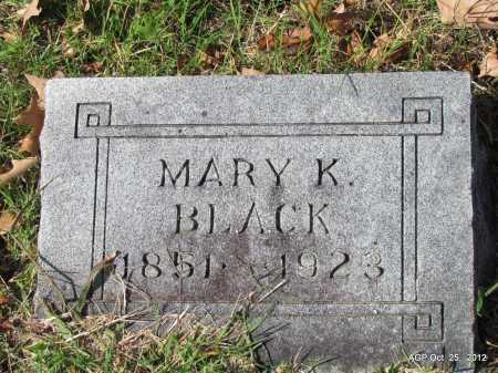 BLACK, MARY K - Randolph County, Arkansas   MARY K BLACK - Arkansas Gravestone Photos