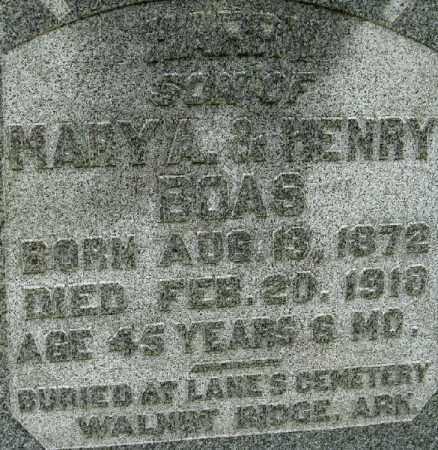 BOAS, MARY A. - Randolph County, Arkansas | MARY A. BOAS - Arkansas Gravestone Photos