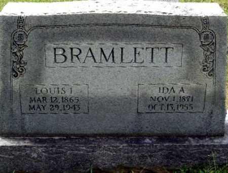 CLARK BRAMLETT, IDA A - Randolph County, Arkansas | IDA A CLARK BRAMLETT - Arkansas Gravestone Photos
