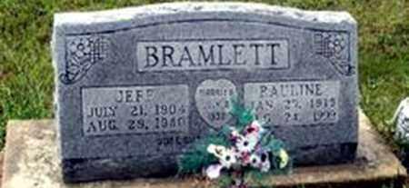 BRAMLETT, PAULINE - Randolph County, Arkansas | PAULINE BRAMLETT - Arkansas Gravestone Photos