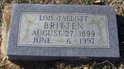 TALBOTT BRITTEN, LOIS - Randolph County, Arkansas | LOIS TALBOTT BRITTEN - Arkansas Gravestone Photos