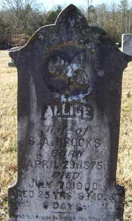 BROOKS, ALICE - Randolph County, Arkansas | ALICE BROOKS - Arkansas Gravestone Photos