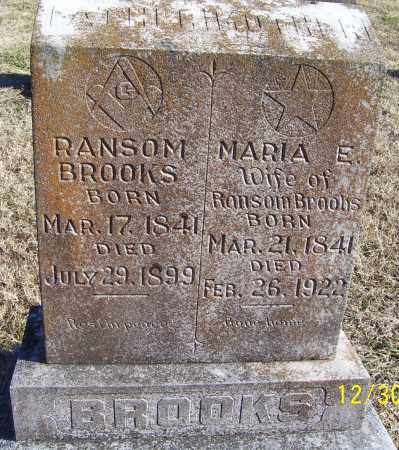 BROOKS, MARIA E. - Randolph County, Arkansas | MARIA E. BROOKS - Arkansas Gravestone Photos
