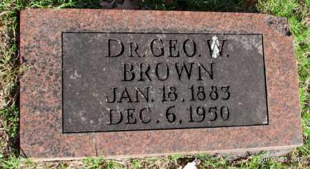 BROWN, DR GEORGE W - Randolph County, Arkansas   DR GEORGE W BROWN - Arkansas Gravestone Photos