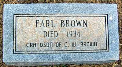 BROWN, EARL - Randolph County, Arkansas | EARL BROWN - Arkansas Gravestone Photos