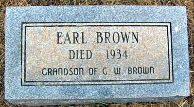BROWN, EARL - Randolph County, Arkansas | EARL BROWN - Arkansas Gravestone Photos