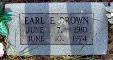 BROWN, EARL E - Randolph County, Arkansas   EARL E BROWN - Arkansas Gravestone Photos
