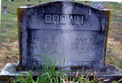 BROWN, GEORGE WASHINGTON - Randolph County, Arkansas | GEORGE WASHINGTON BROWN - Arkansas Gravestone Photos