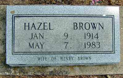 BROWN, HAZEL - Randolph County, Arkansas | HAZEL BROWN - Arkansas Gravestone Photos